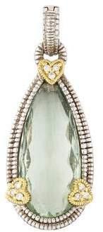Judith Ripka Prasiolite & Diamond Enhancer Pendant