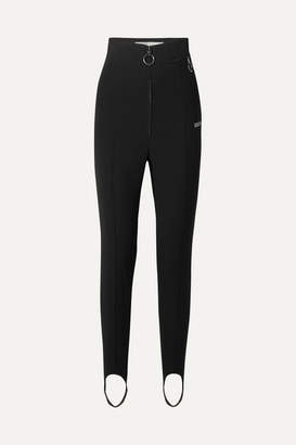 Off-White Printed Twill Skinny Pants - Black