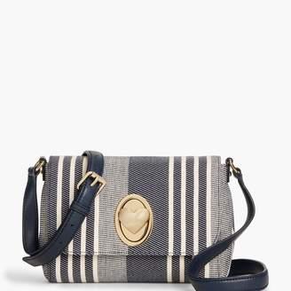 Talbots Stripe Heart Turnlock Crossbody Bag
