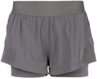 adidas by Stella McCartney layered sports shorts