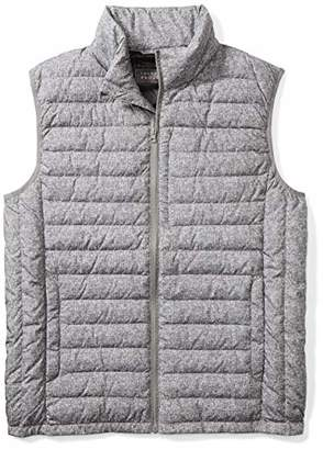 The Plus Project Men's Big and Tall Light Down Vest with Chest Pocket 2X-Large