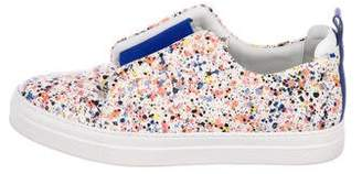 Pierre Hardy Leather Printed Sneakers