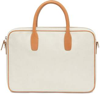Mansur Gavriel Canvas Small Briefcase - Creme/Cammello
