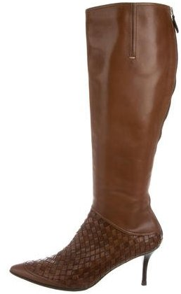 Bottega Veneta Bottega Veneta Intrecciato Knee-High Boots