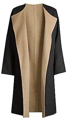 Eileen Fisher Women's Alpaca Wool-Blend Open-Front Longline Coat