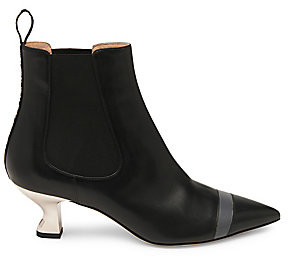 Fendi Women's Colibri Leather Ankle Boots