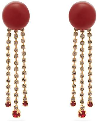Marni Crystal-embellished resin earrings