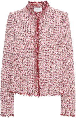 Giambattista Valli Floral-Embellished Tweed Jacket