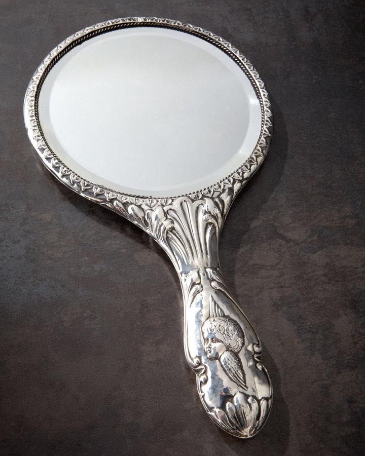 Sterling-Silver Hand Mirror, 1907