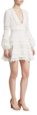 Zimmermann Castille Embroidered Linen Dress