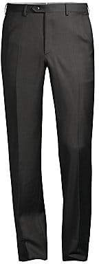 Brioni Men's Anthracite Basic Wool Trousers