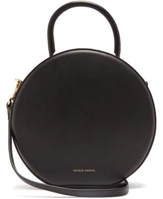 Mansur Gavriel Circle Leather Cross Body Bag - Womens - Black