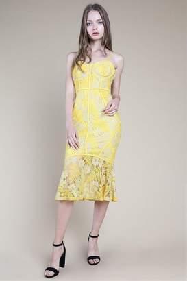 Honey Punch **Lace Midi Slip Dress