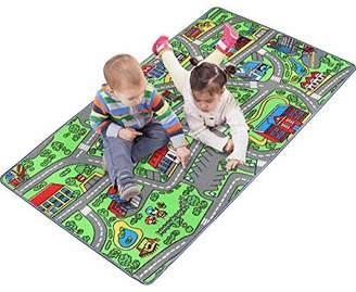 N. Click N' Play Large Non-Slip City Life Kids Playmat Rug