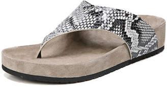 Vince Padma Platform Snake-Print Thong Sandal