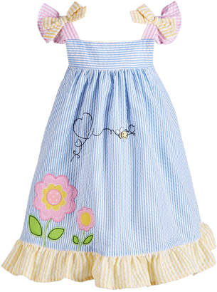 Blueberi Boulevard Baby Girls Gingham Bumblebee Sundress