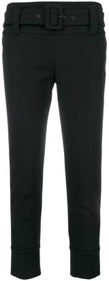 Prada cropped belted skinny trousers