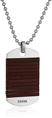 Fossil Men's Dog Tag Necklace