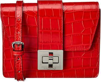 Mario Valentino Valentino By Benedicte Crocodile Leather Crossbody
