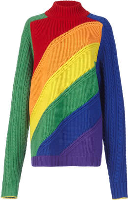 Burberry Rainbow Wool and Cashmere-Blend Sweater
