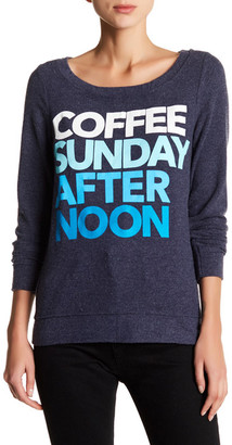 Chaser Long Sleeve Coffee Sunday Pullover $79 thestylecure.com