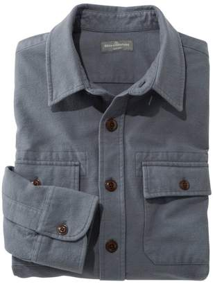 L.L. Bean L.L.Bean Men's Signature 1933 Chamois Cloth Shirt, Slim Fit