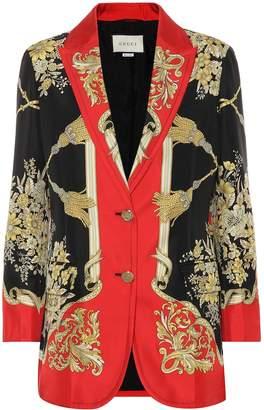 Gucci Printed silk blazer