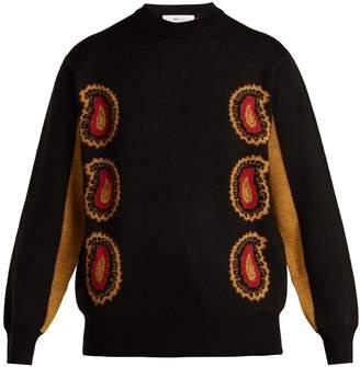 Toga Paisley intarsia-knit wool sweater