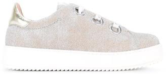 Twin-Set glittery platform sneakers $158.90 thestylecure.com