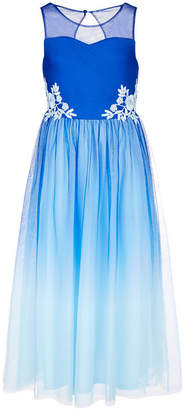 Sequin Hearts Big Girls Embroidered Ombre Ball Gown