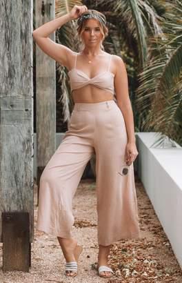 BEIGE Bb Exclusive Ava High Waist Linen Pants