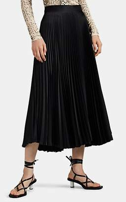 LES COYOTES DE PARIS Women's Opus Asymmetric Plissé Satin Skirt - Black