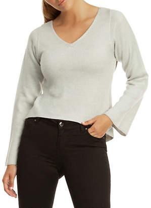 Dex Long-Sleeve Wrap-Back Sweater