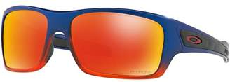 Oakley Men's Turbine Non-Polarized Iridium Rectangular Sunglasses