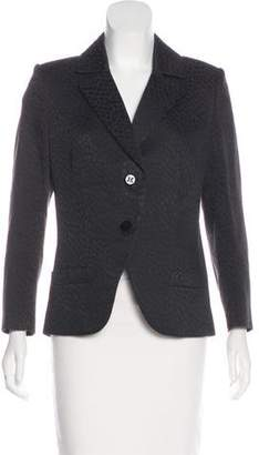 Celine Patterned Notch-Lapel Blazer