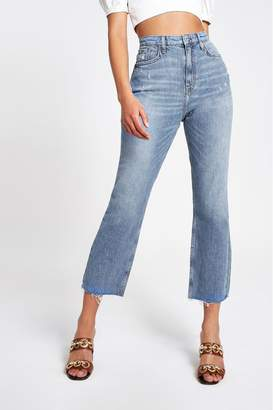 River Island Womens Blue Straight Dracula Slim Jeans - Blue