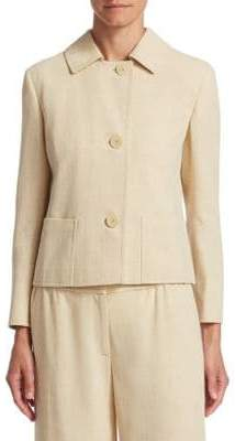 Akris Punto Boxy Button-Front Jacket