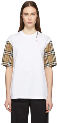 Burberry White Vintage Check Serra T-Shirt