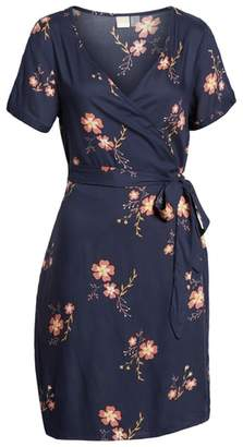 Roxy Monument View Floral Print Wrap Dress