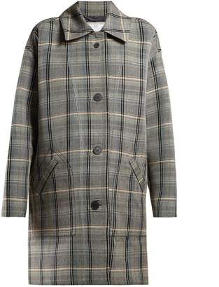 Stella McCartney Oversized checked wool-blend coat