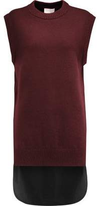 DKNY Merino Wool And Cotton-Blend Vest