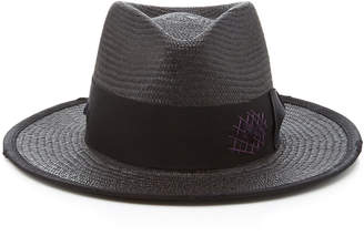 Nick Fouquet M'O Exclusive Bordeaux Straw Fedora