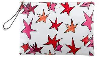Lanvin Printed Leather Zip Pouch
