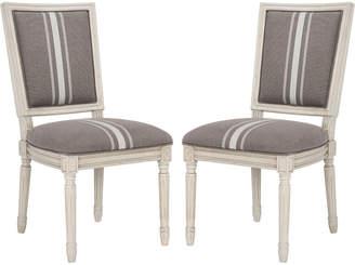 Safavieh Buchanan 19''H French Brasserie Linen Side Chair