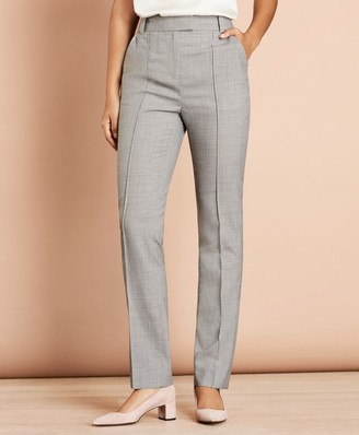 Brooks Brothers Pintucked Stretch Wool Pants
