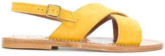 K. Jacques chunky cross strap sandals