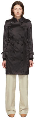 Burberry Black Nylon Kensington Trench Coat