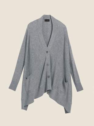 DKNY Wool Cashmere Drape Cardigan