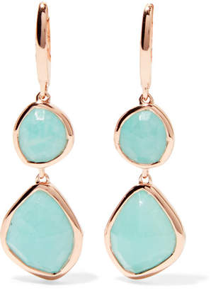 Monica Vinader Siren Rose Gold Vermeil Amazonite Earrings