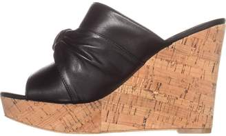 GUESS Womens HOTLOVE Leather Open Toe Casual Platform